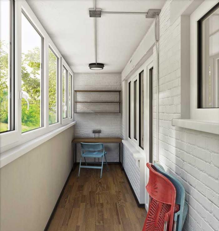 Дизайн балкона в однокомнатной квартире после перепланировки