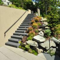 Садовая лестница в ландшафтном дизайне