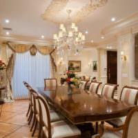 Гипсовые молдинги в классическом дизайне гостиной
