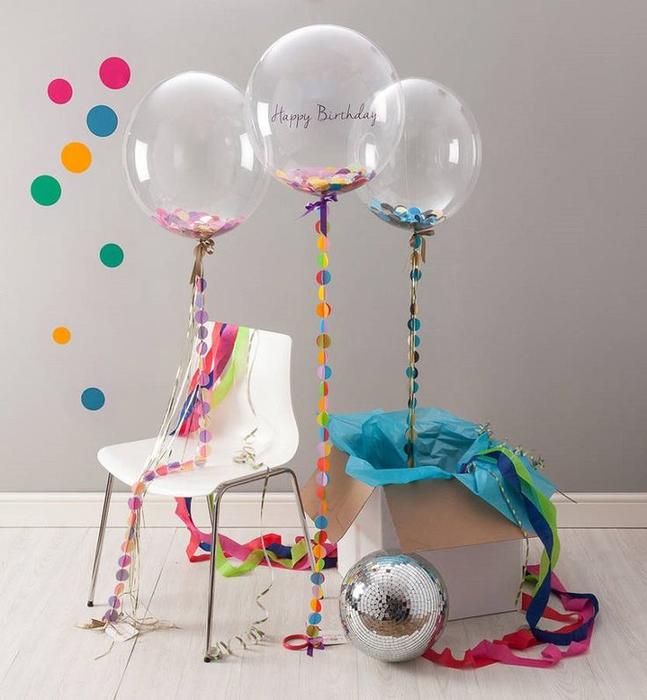 Гелиевые шары для оформление дня рождения маленького ребенка