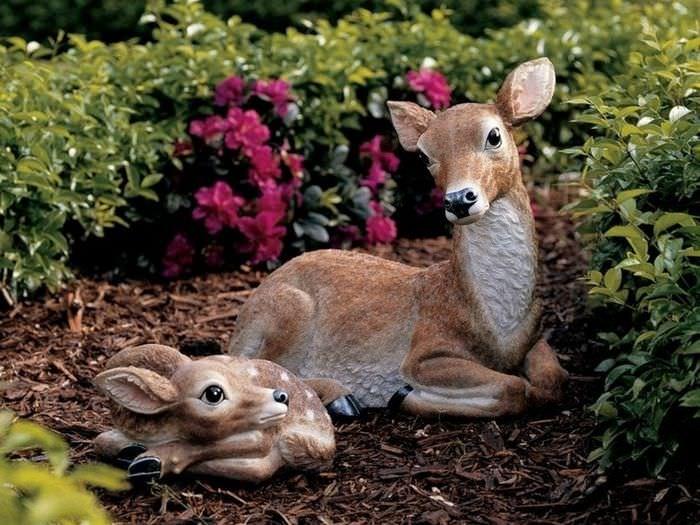 Садовые фигурки животных в ландшафтном дизайне