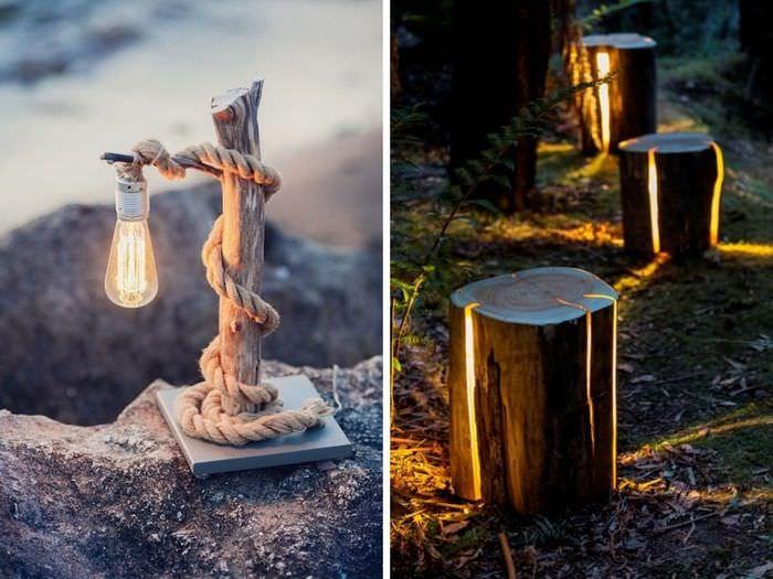 Декоративные светильники для сада своими руками