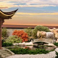 Загородный сад в японском стиле