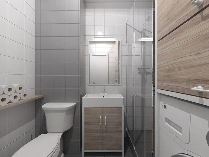 Дизайн санузла в однокомнатной квартире панельного дома
