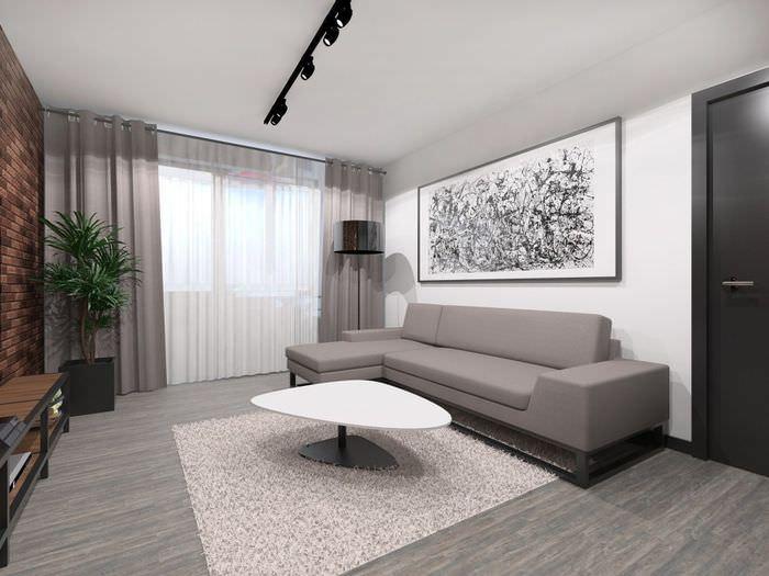 Дизайн гостиной в однокомнатной квартире панельного дома