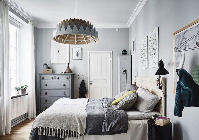 Дизайн спальни в холодных тонах своими руками