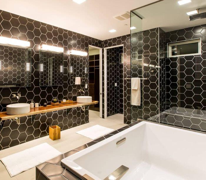 Современный стиль в интерьере ванной комнаты