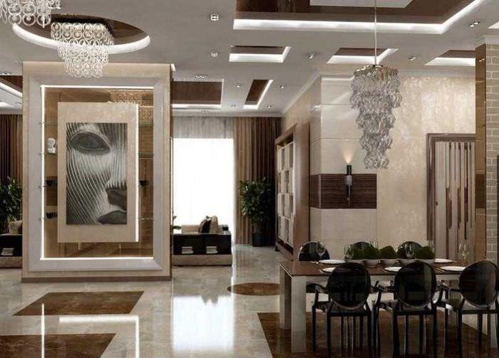 Дизайн помещения гостиной в современном стиле