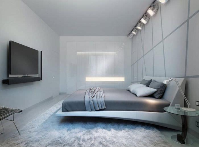 Дизайн современной спальни в стиле хай-тек