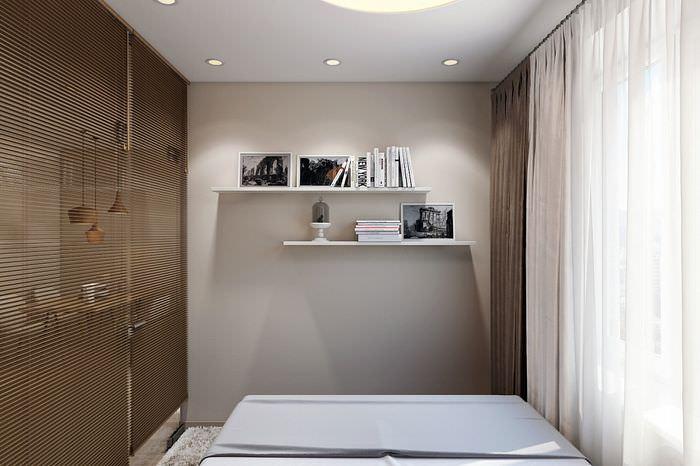 Спальная зона в однокомнатной квартире-студии