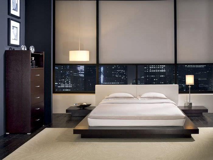 Интерьер спальни современного мужчины в стиле минимализма