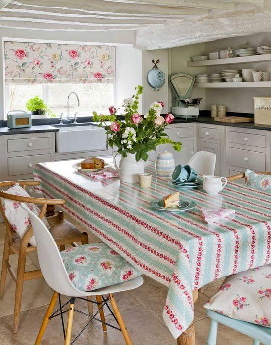 Текстиль в декорировании современной кухни своими руками