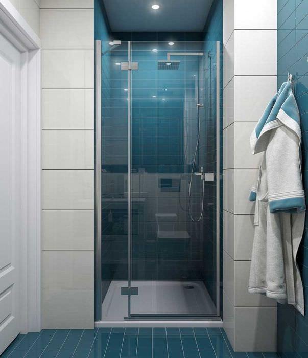 Интерьер небольшой ванной комнаты без туалета