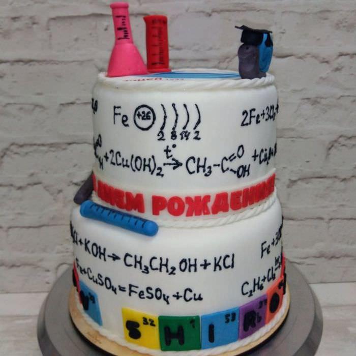 Торт для юного химика на день рождения вашего ребенка