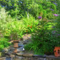 Декорирование загородного сада вазонами