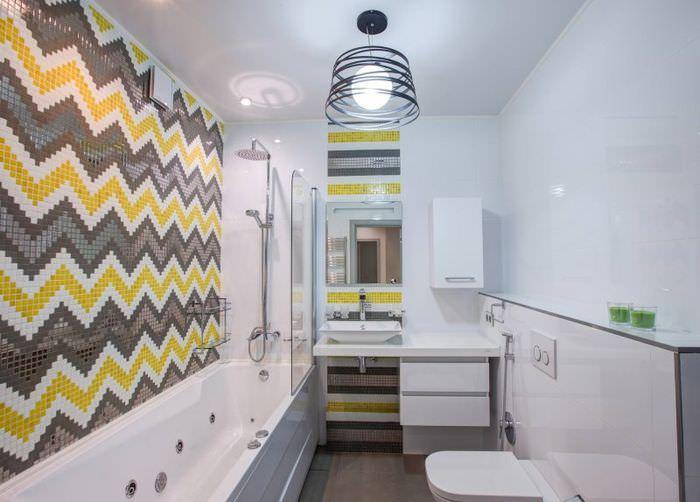 Интерьер светлой ванны в скандинавском стиле