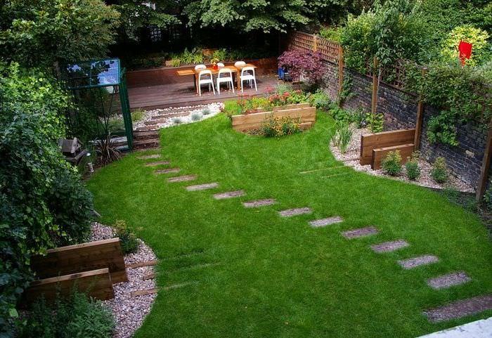 Зона для отдыха в ландшафтном дизайне частного сада