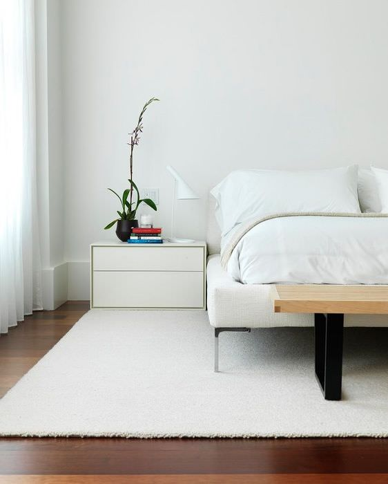 Оформление интерьера спальной комнаты в стиле минимализма