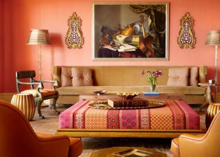 Цвета интерьера в гостиной марокканского стиля
