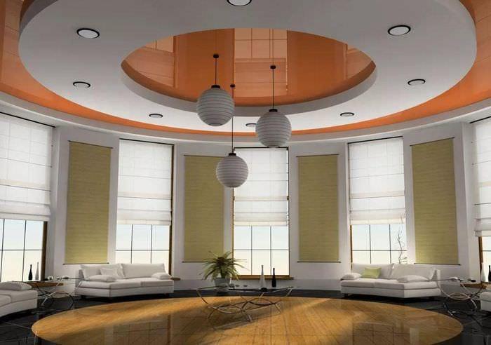 Декорирование потолка светильниками шарообразной формы