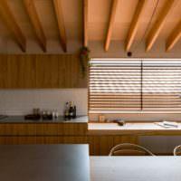 Использование дерева для декорирования современного интерьера