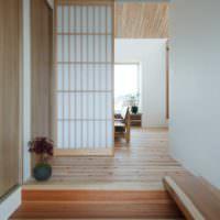 Интерьер прихожей в стиле японского миимализма