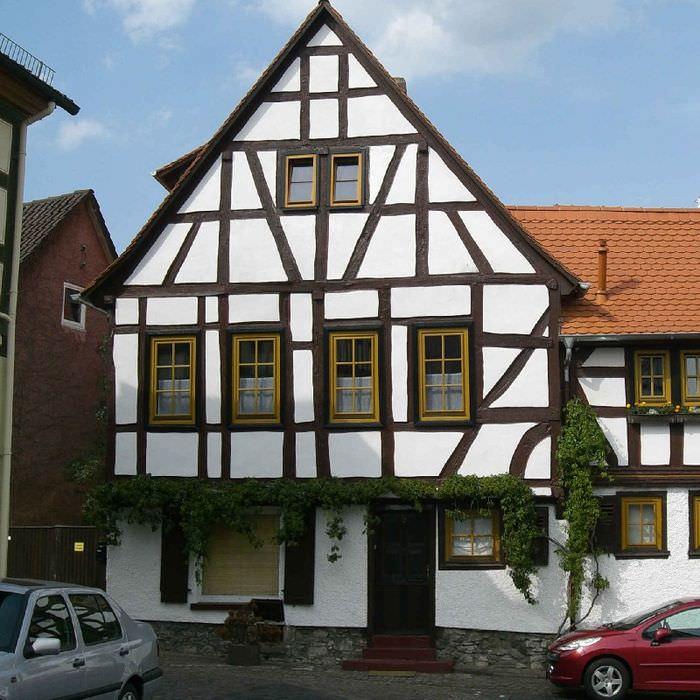Фасад жилого дома в стиле фахверк