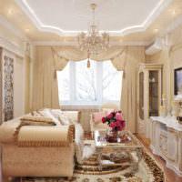 Декор гостиной живыми цветами