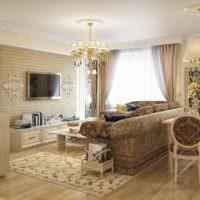 Классический интерьер современной гостиной