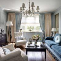 Оформление гостиной в стиле классики
