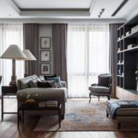Современный интерьер гостиной в стиле классицизма