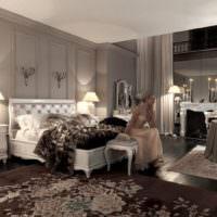 Освещение в классической спальне загородного дома