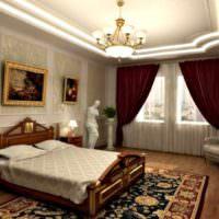 Яркий свет в спальне классического стиля