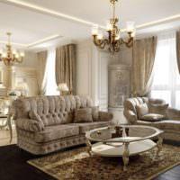 Темный пол из дерева в дизайне гостиной