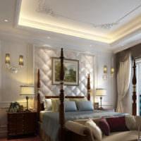 Декорирование изголовья кровати в стиле классицизма