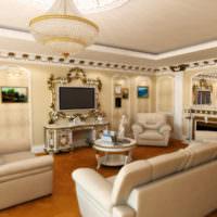 Интерьер классической гостиной в европейском стиле