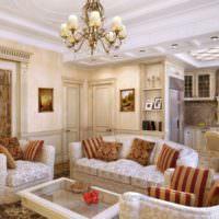 Рельефный потолок в стиле классицизма