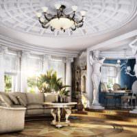 Интерьер гостиной с коринфскими колонами