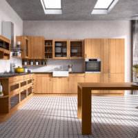 Современная кухня в коричневом цвете