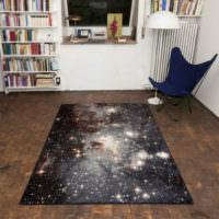 Коврик с изображением звездного неба