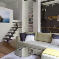 Квартира студия в два этажа