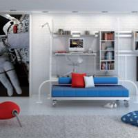 Нестандартная мебель в интерьере жилой комнаты