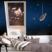 Серый текстиль в спальной комнате