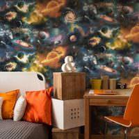 Оранжевые подушки в декорировании спальни