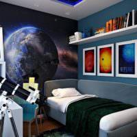 Телескоп в спальне мальчика подростка