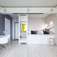 Интерьер комнаты с необычным дизайном