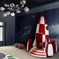 Детская ракета в игровой комнате