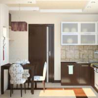 Дизайн кухни с коричневым цветом в интерьере