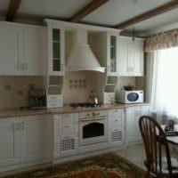 Линейная планировка кухонного пространства