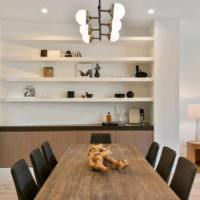 Люстра в стиле модерн в дизайне гостиной